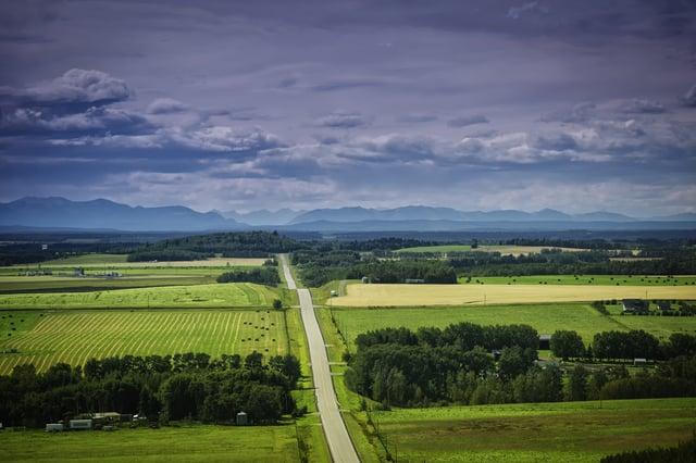 Alberta rural landscape
