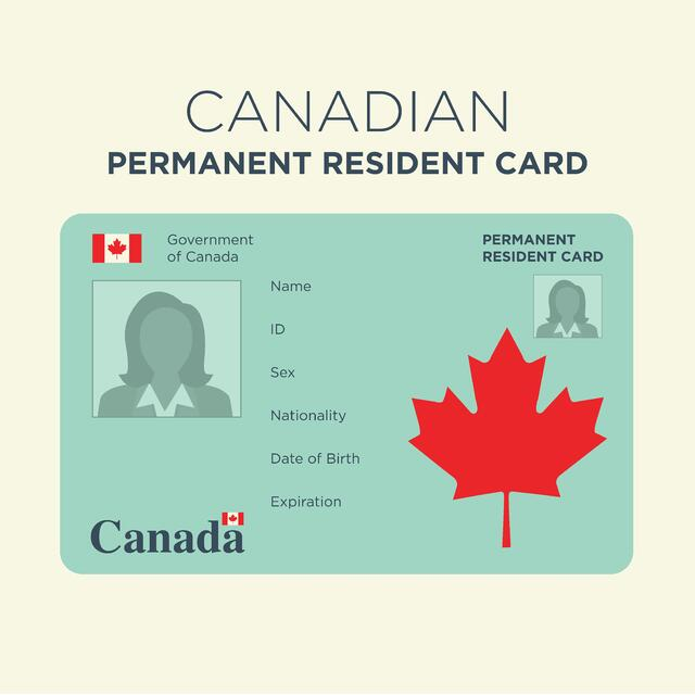 An image of a Canadian Permanent Resident Card.
