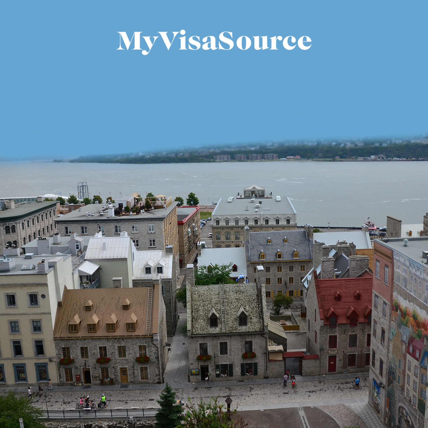 a picture of a small town from high in the air my visa source