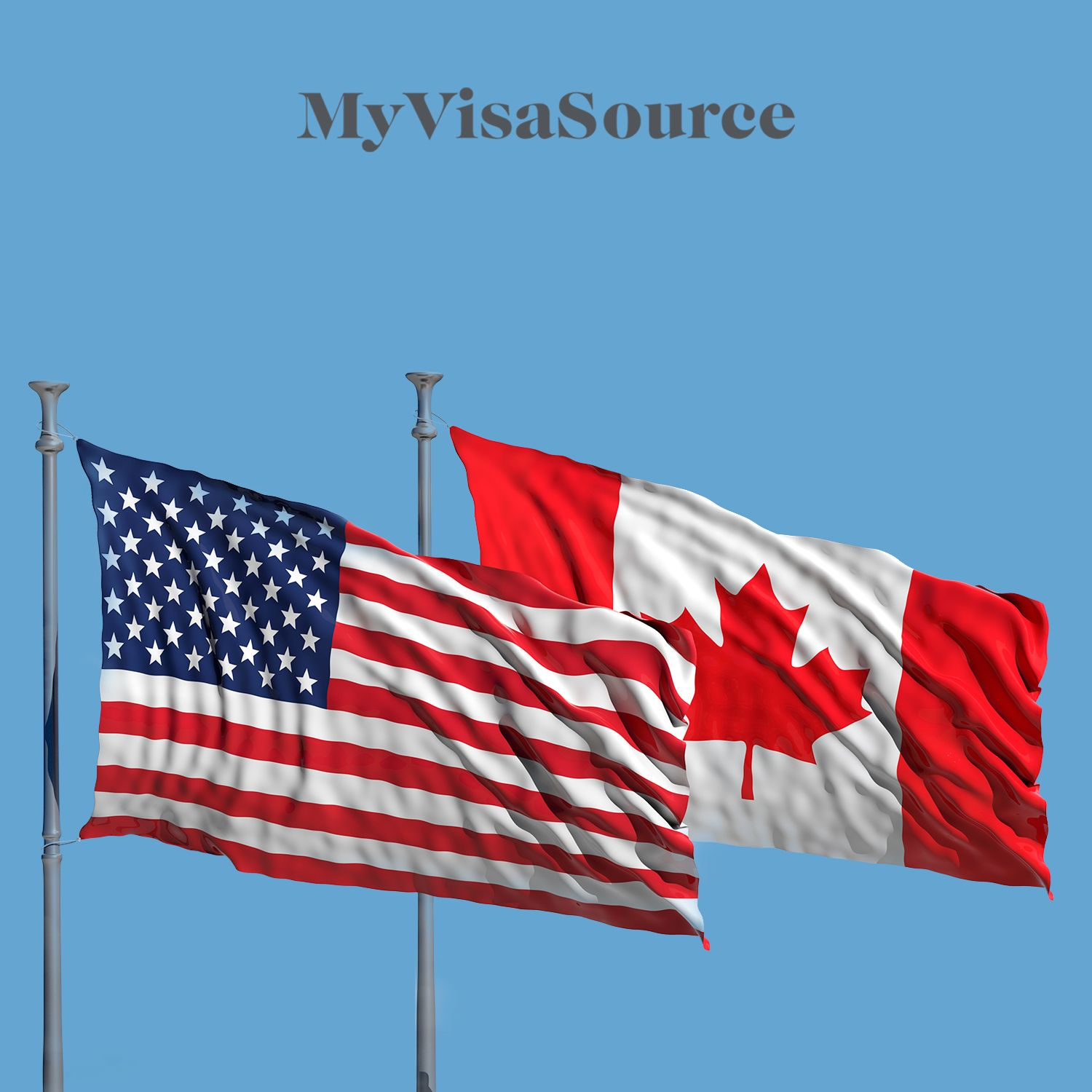 american and canadian flag side by side my visa source