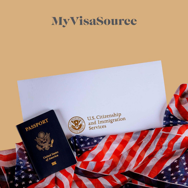 american passport on top of an american flag my visa source
