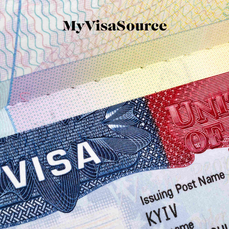 american visa in a passport closeup my visa source