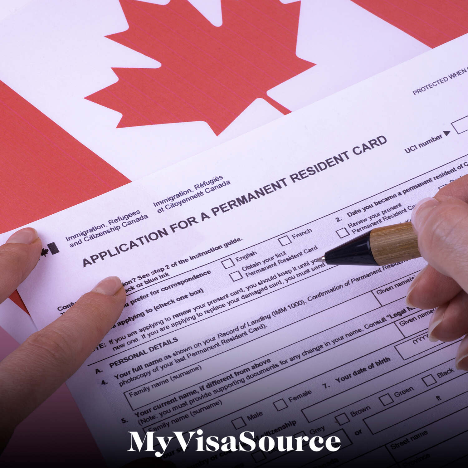 application for canadian permanent resident card my visa source