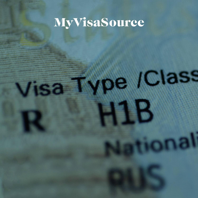 blurred close up h1b visa my visa source