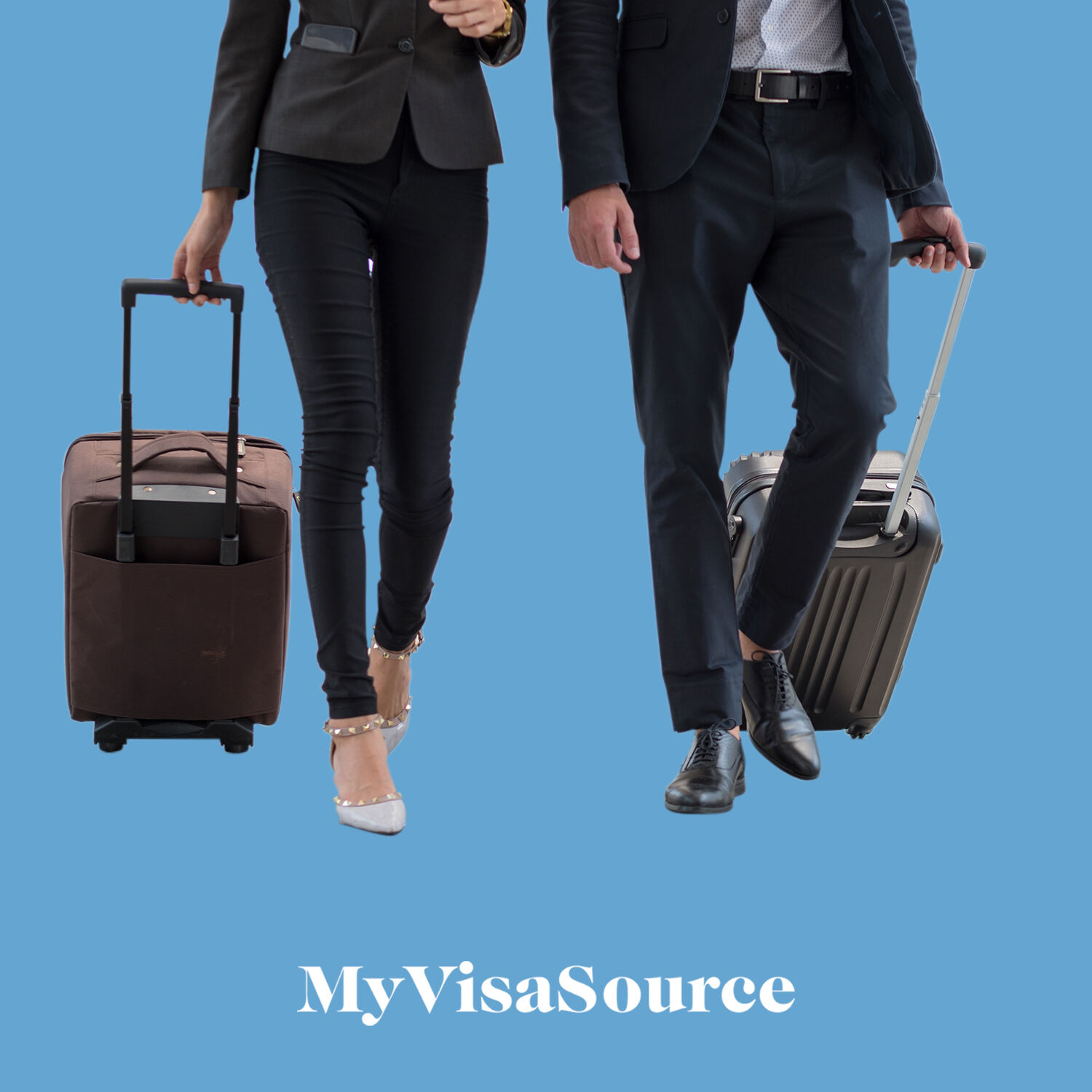 business travelers dragging their luggage with wheels and handles my visa source