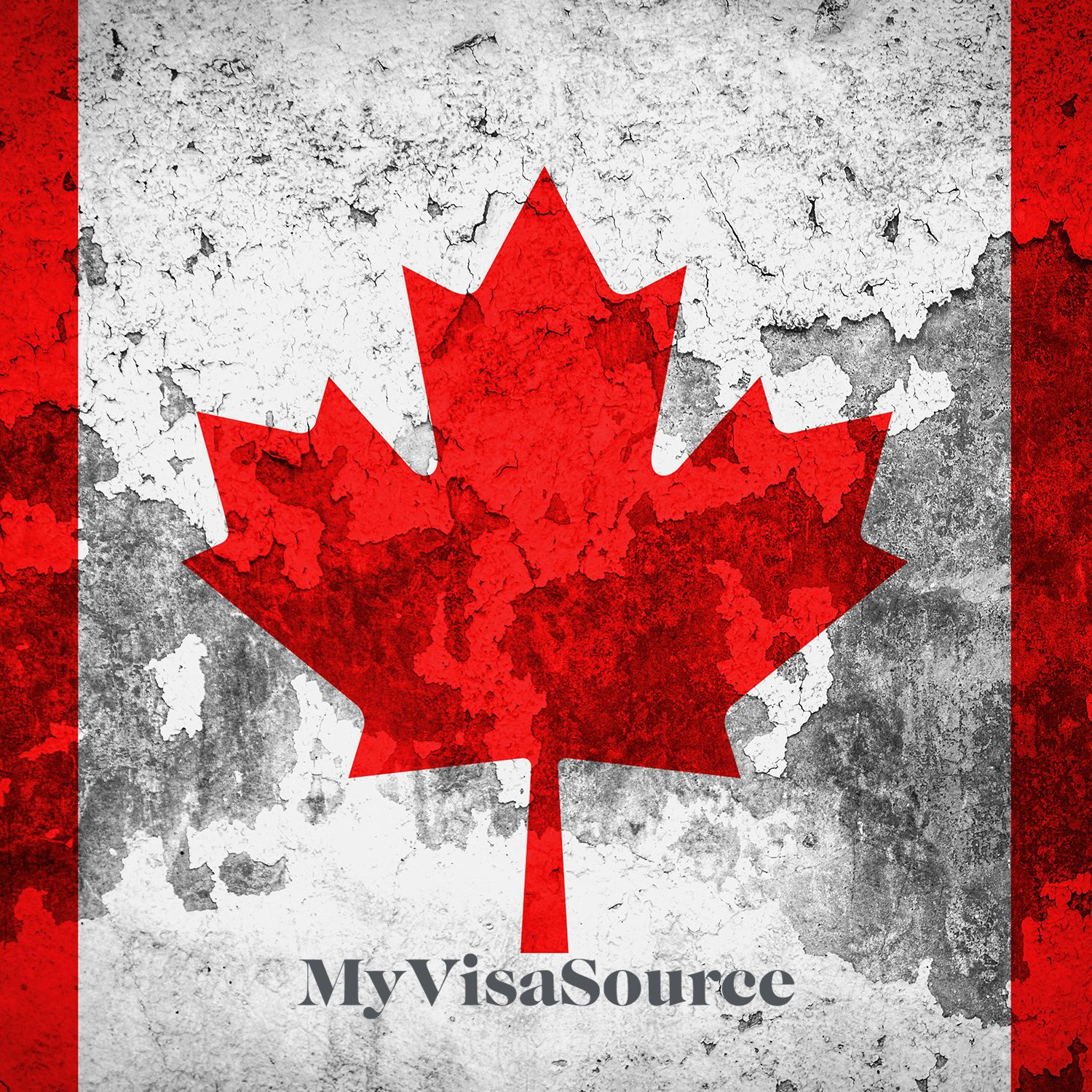 canada flag with artistic markings my visa source