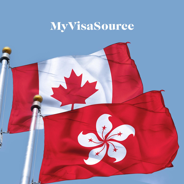 canadian and hong kong flags my visa source