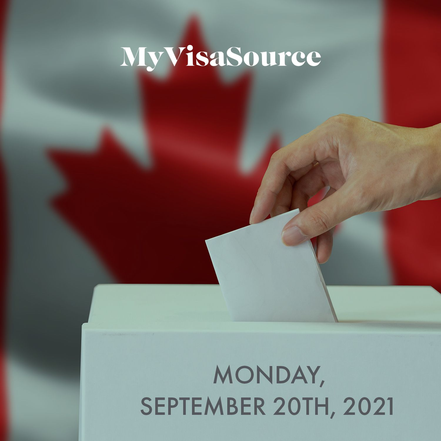 canadian federal election ballot box with a vote cast my visa source