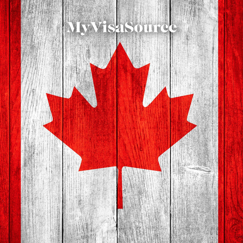 canadian flag over wood panels my visa source