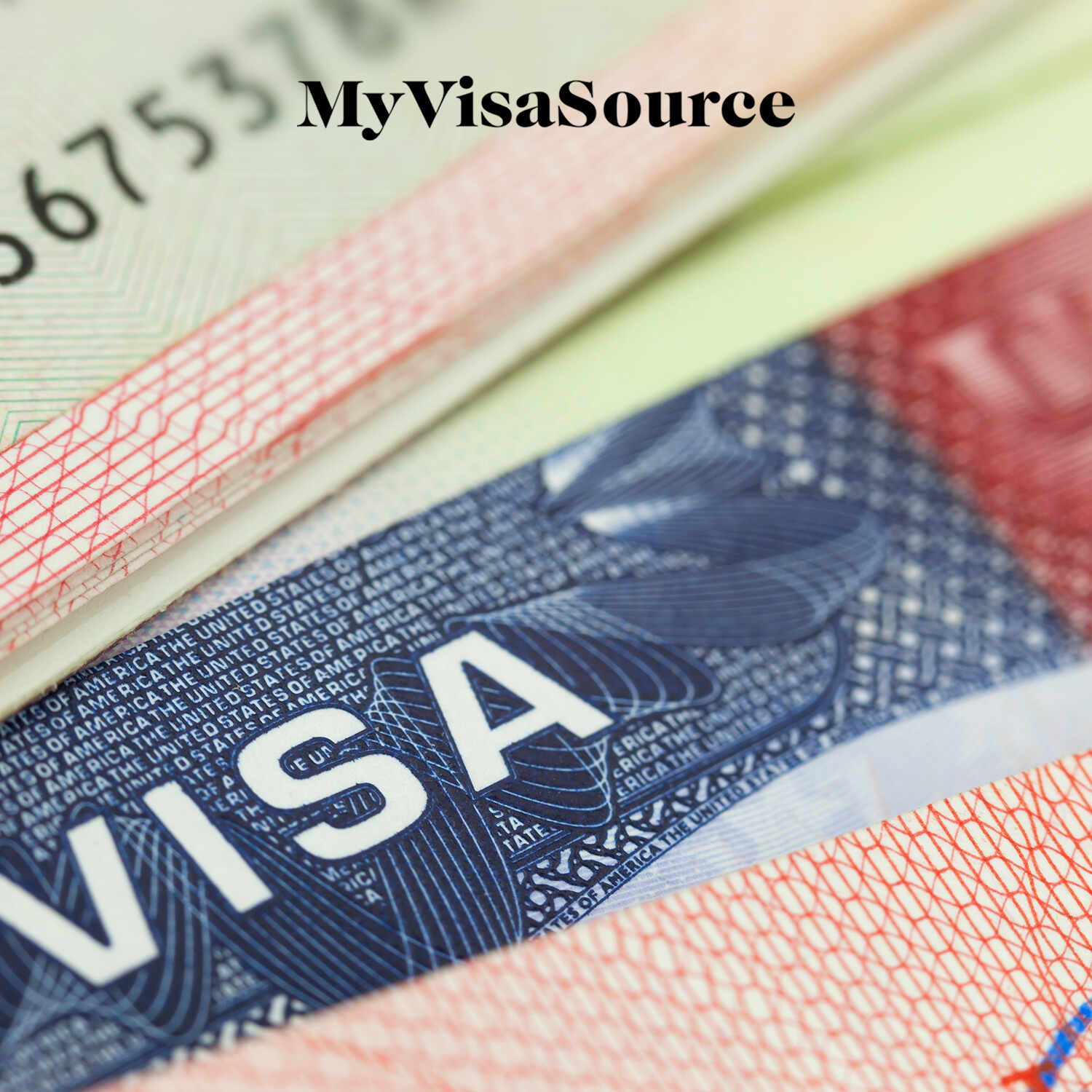 close up of usa visa official documents my visa source