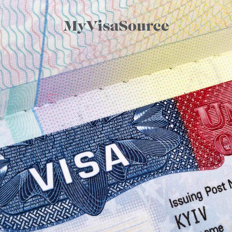 close up section of a usa visa my visa source
