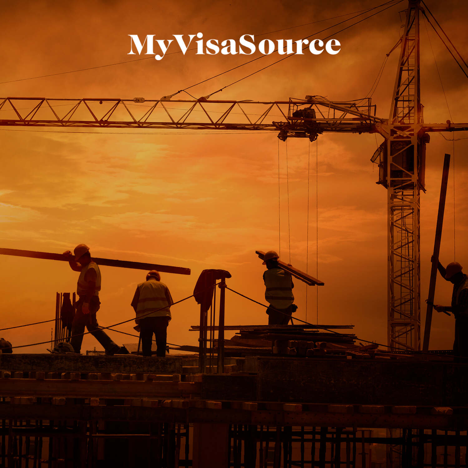 construction workers working on top of unfinished building my visa source