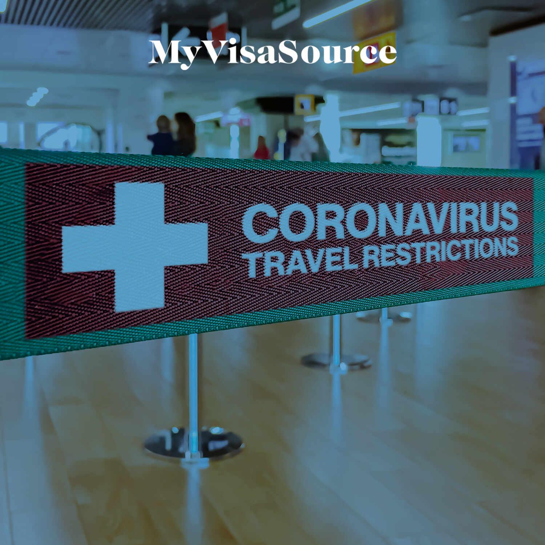 coronavirus travel restrictions line separator at the airport my visa source