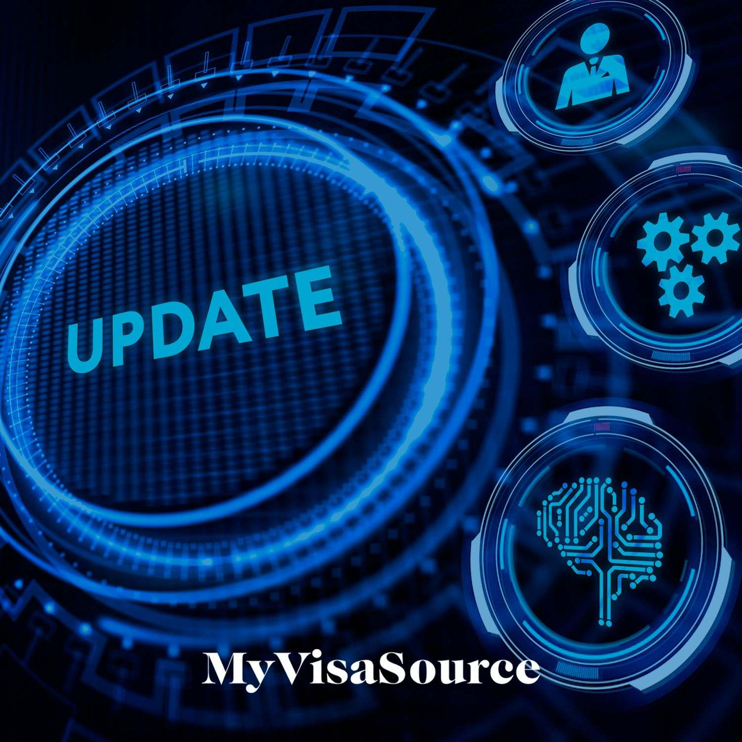 digital dials and one has update written on it my visa source