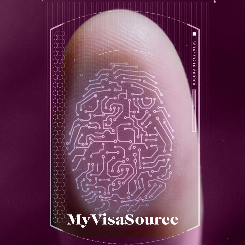 digital drawing over a thumbs fingerprint