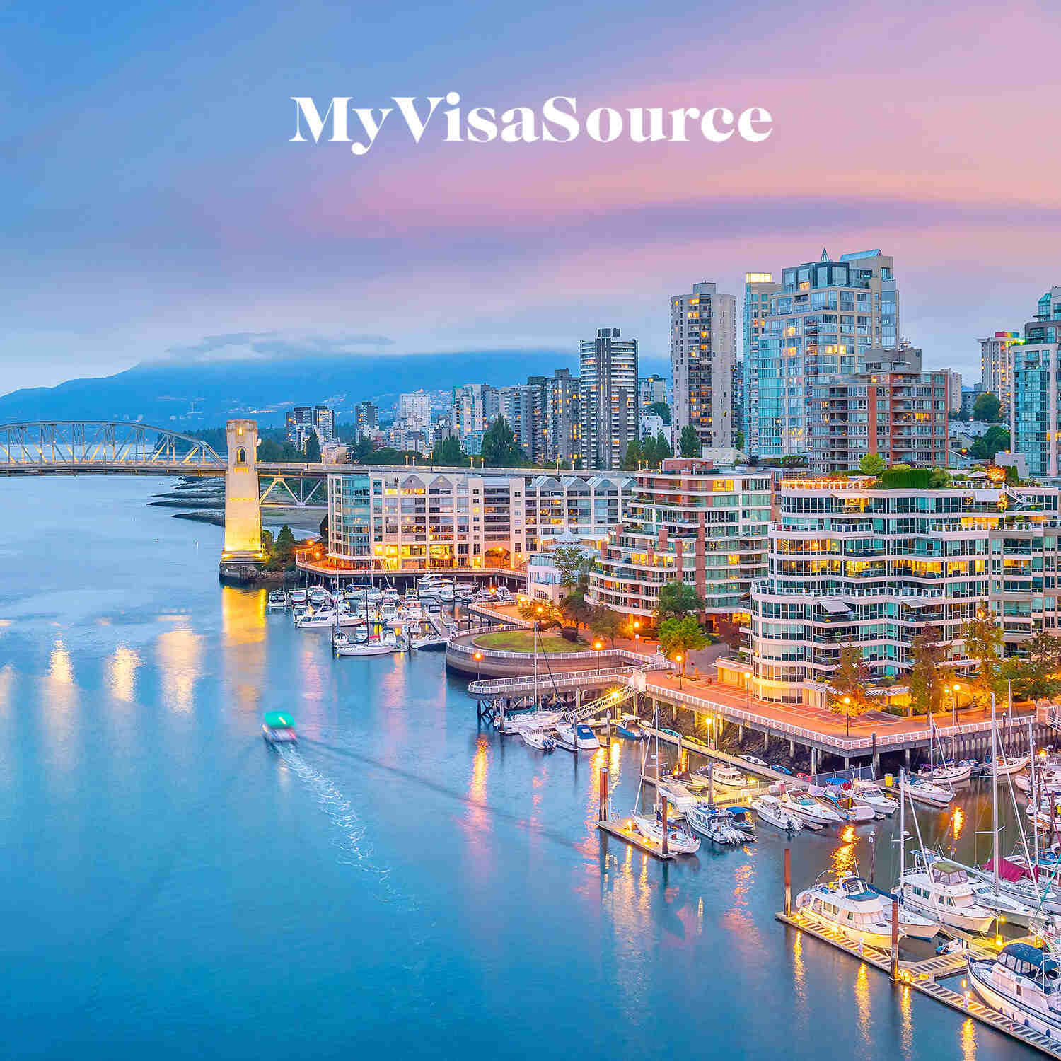 downtown vancouver skyline in british columbia