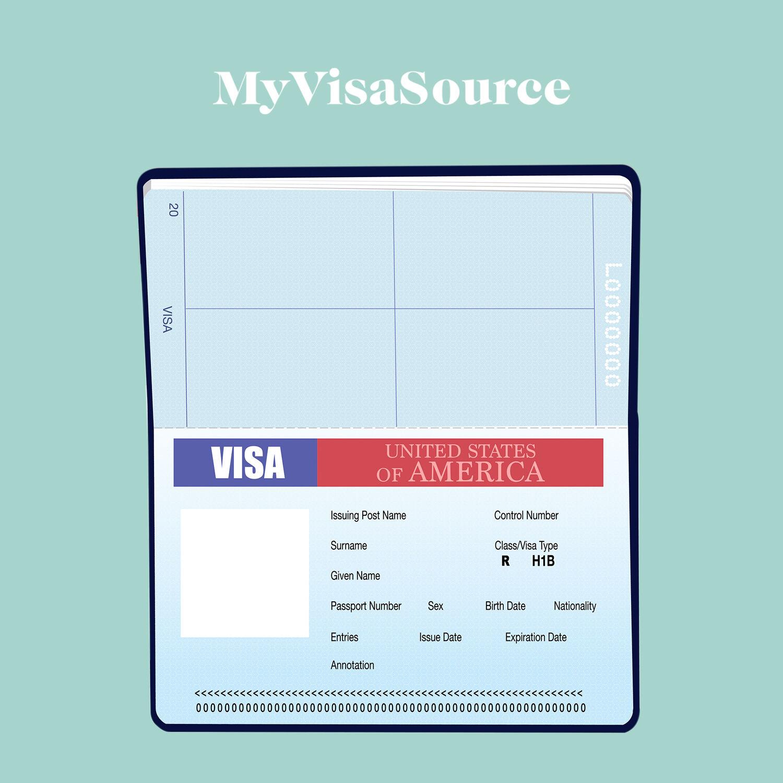 drawing of blank h1b visa for the us my visa source