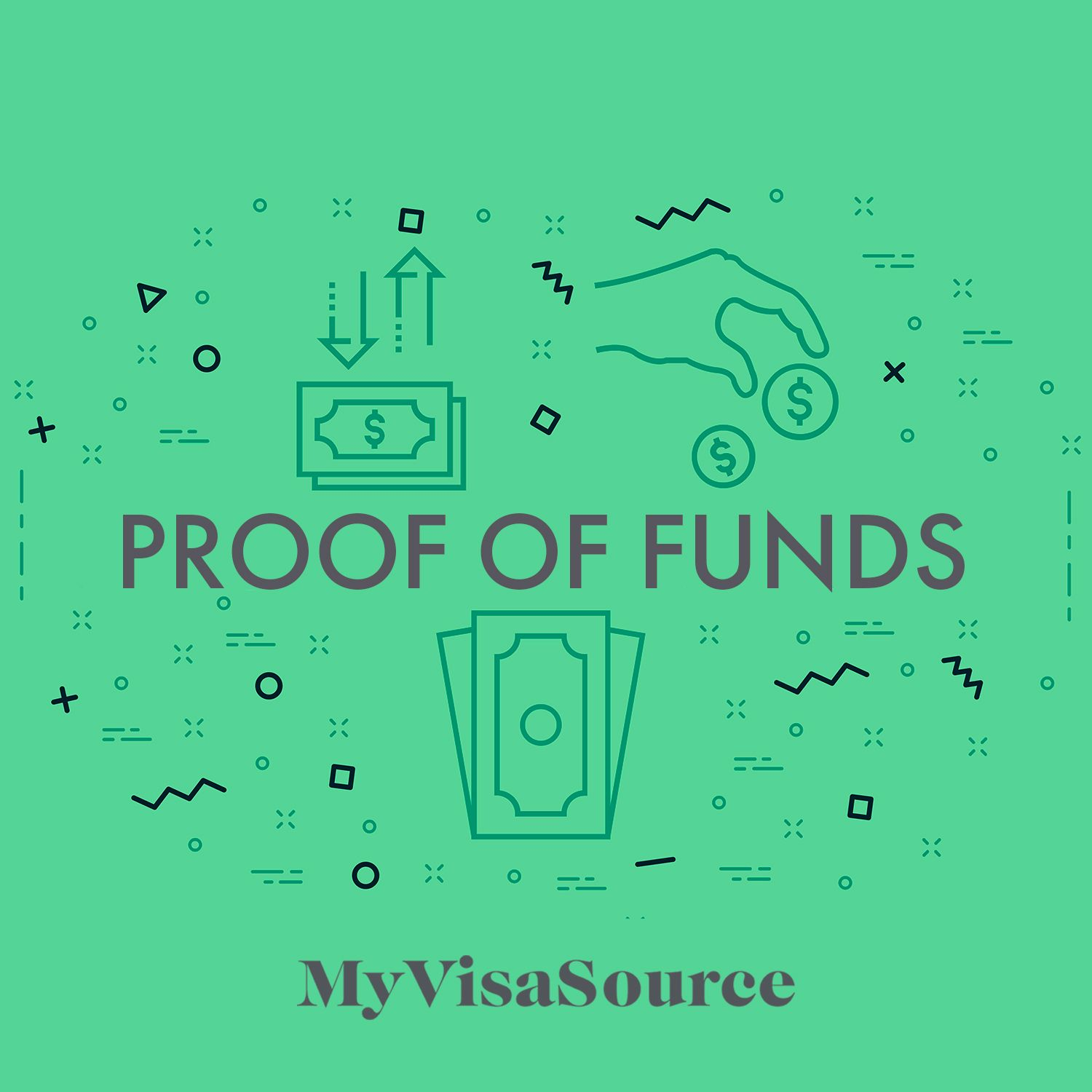 drawing of proof of funds my visa source