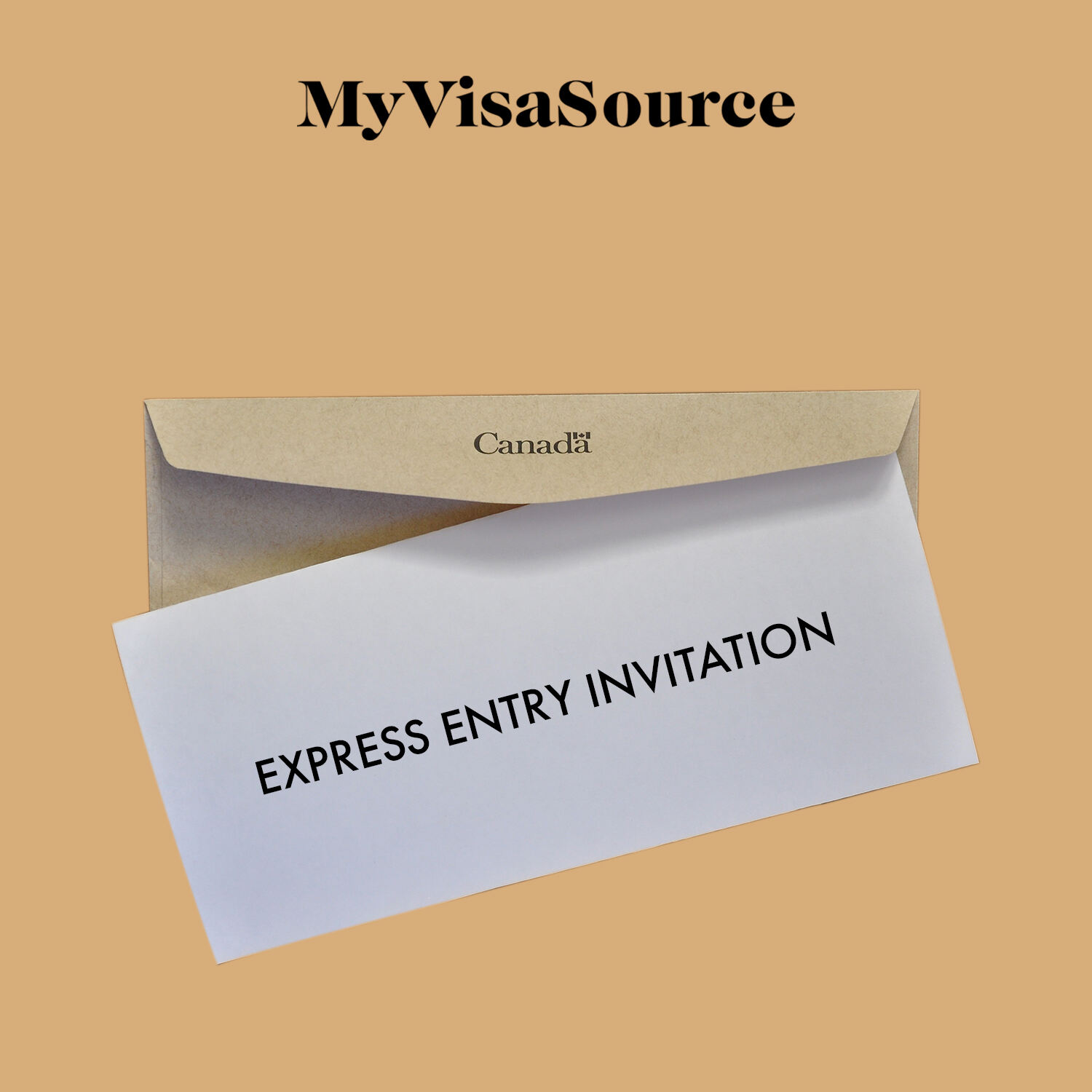 envelope with express entry invitation taken out my visa source