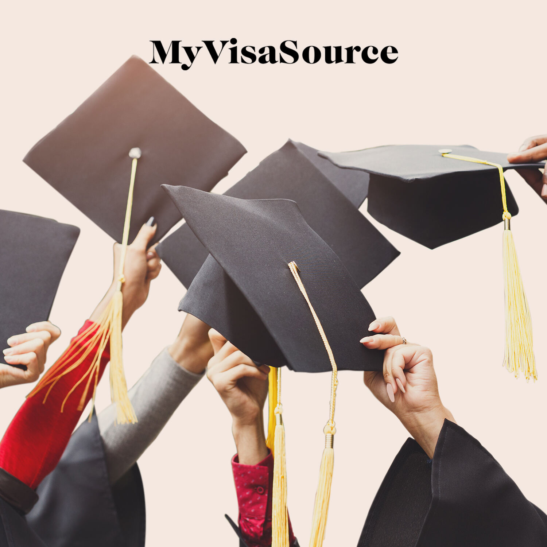 graduates holding their grad caps in the air my visa source