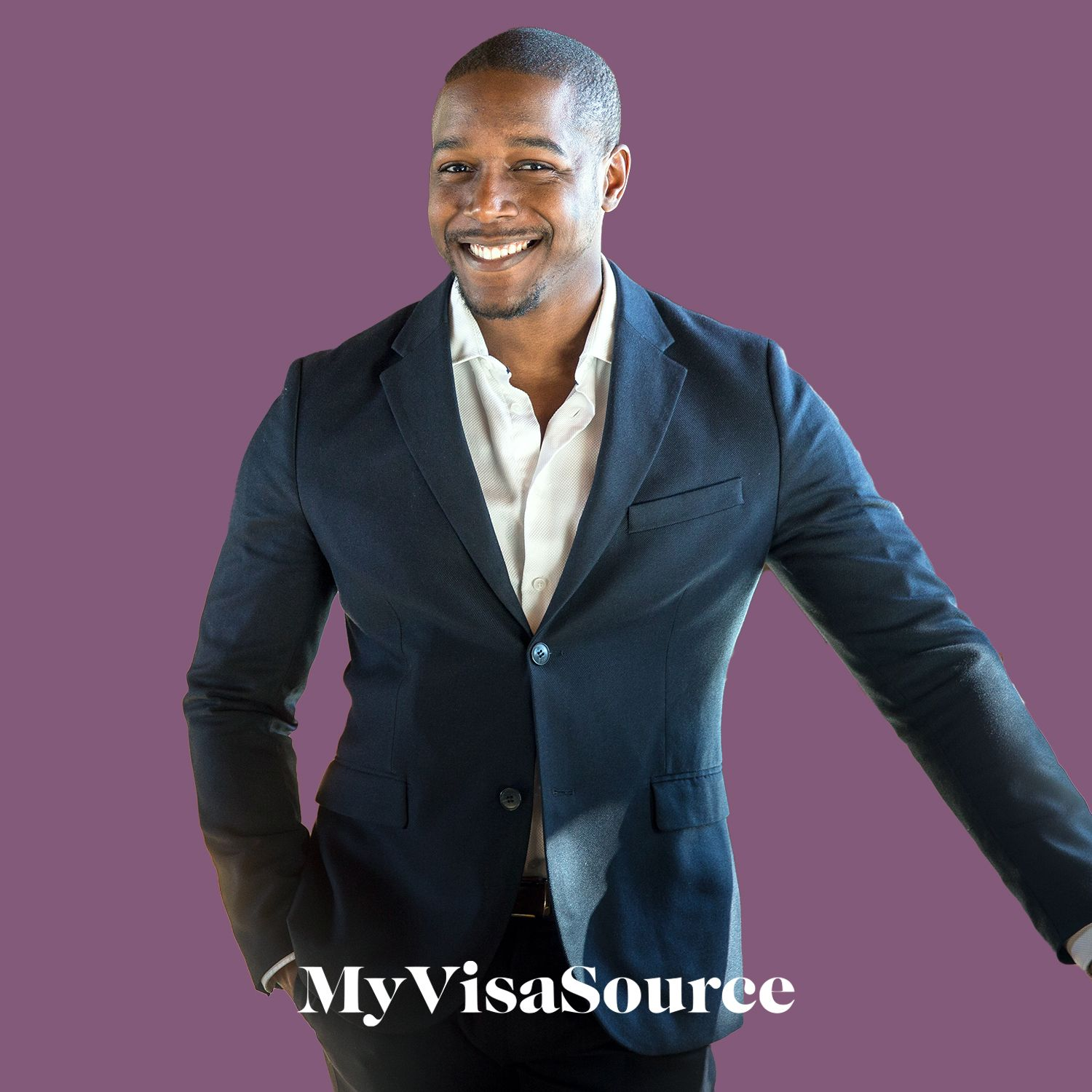 happy and sharply dressed business person my visa source