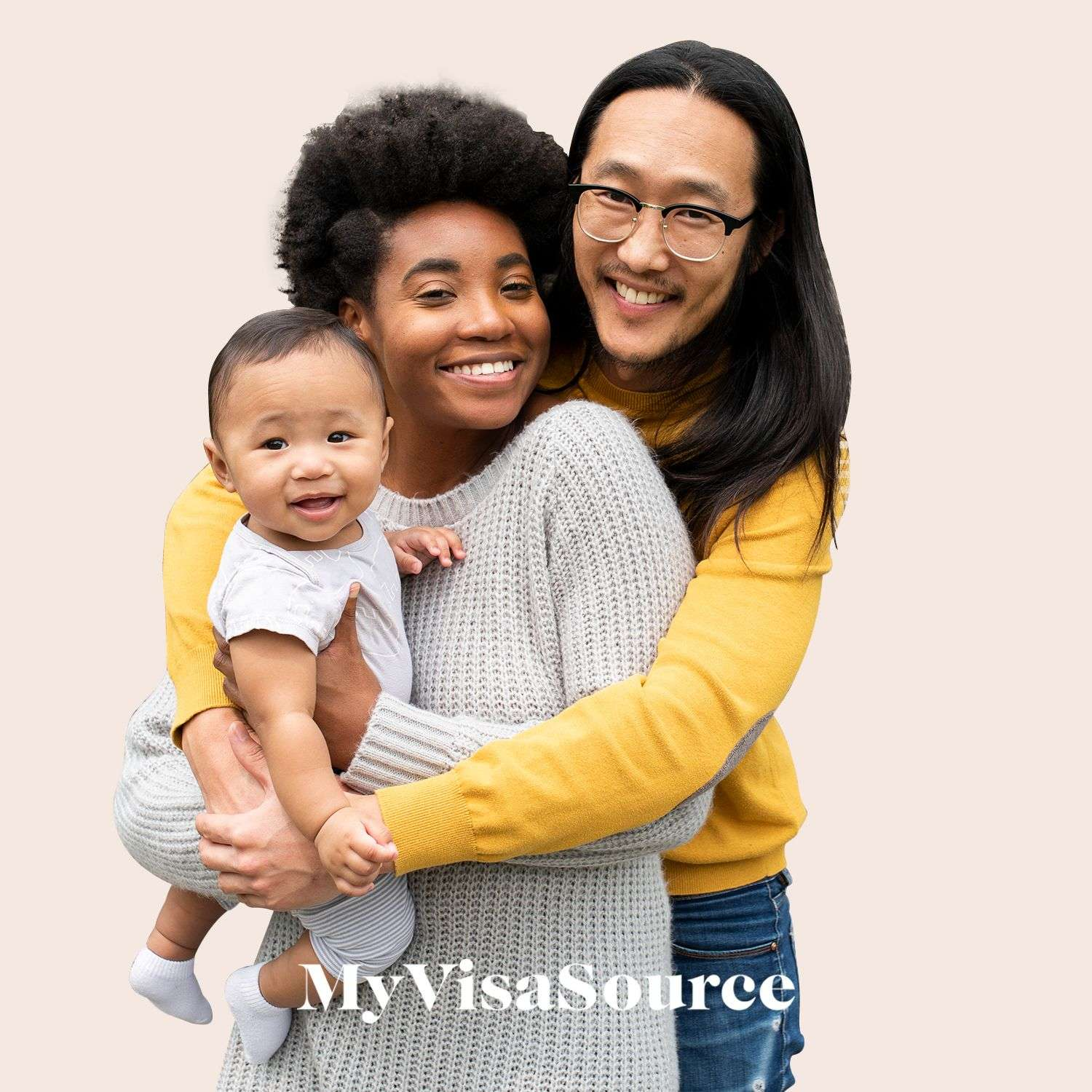 happy bi racial couple holding their smiling mixed baby my visa source