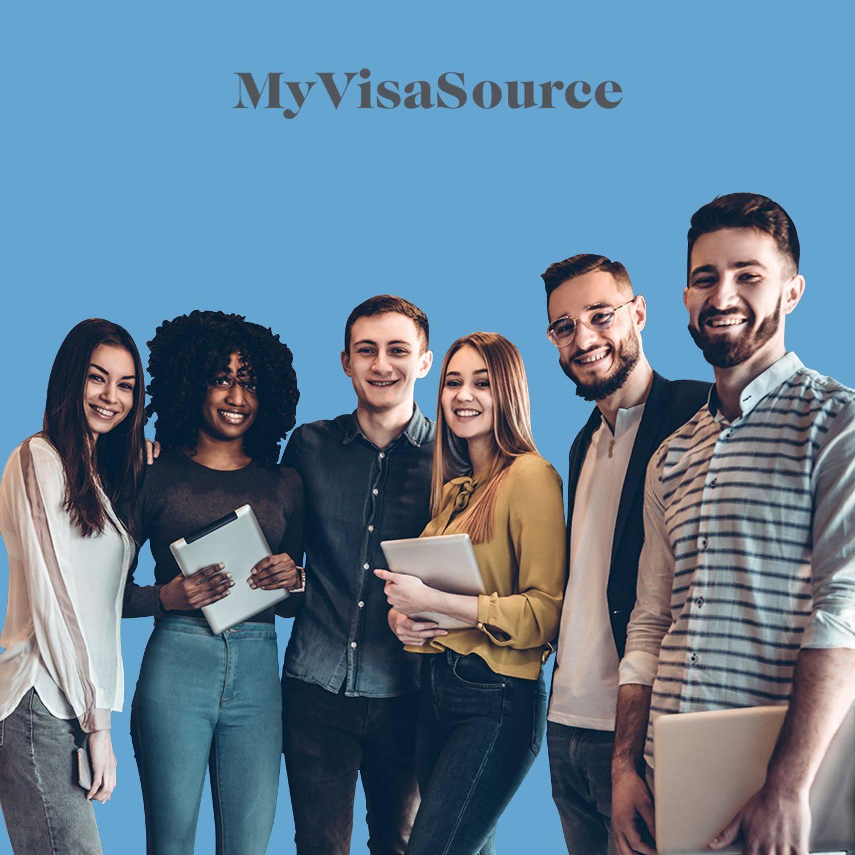 happy group of international students my visa source