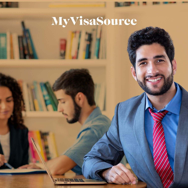 happy male international entrepreneur my visa source