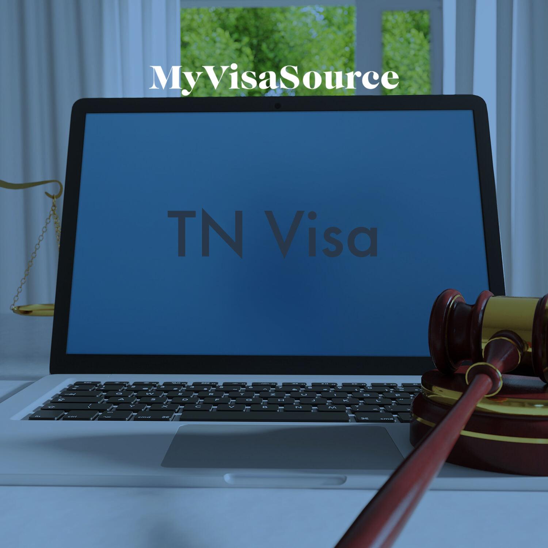 laptop with tn visa written on the screen my visa source