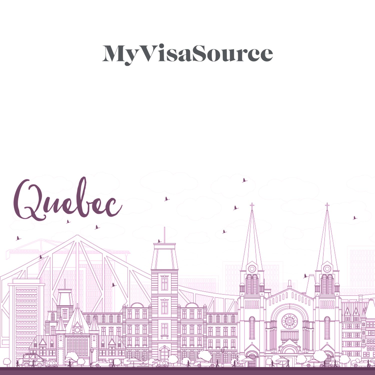 line drawing of quebec cityscape my visa source