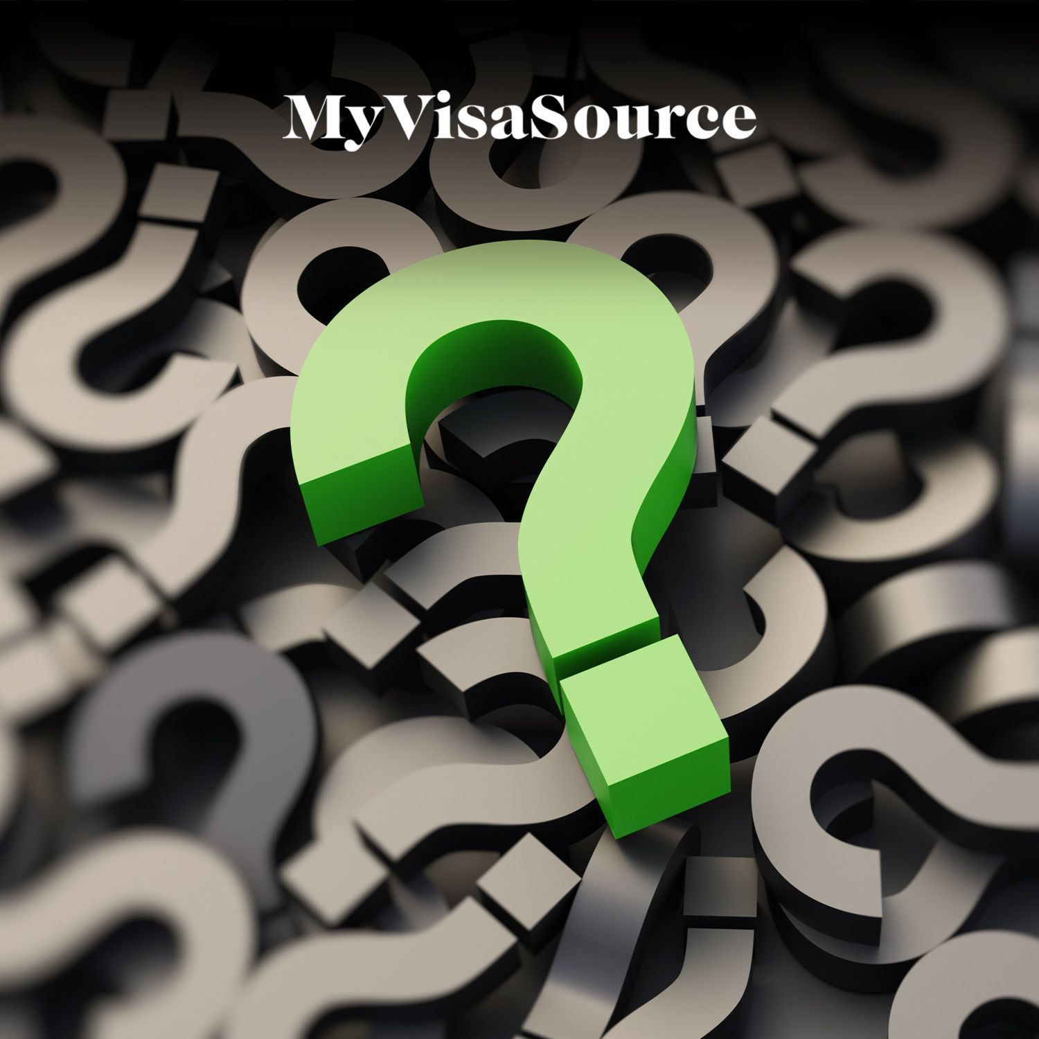 lots of 3d question marks piled together my visa source