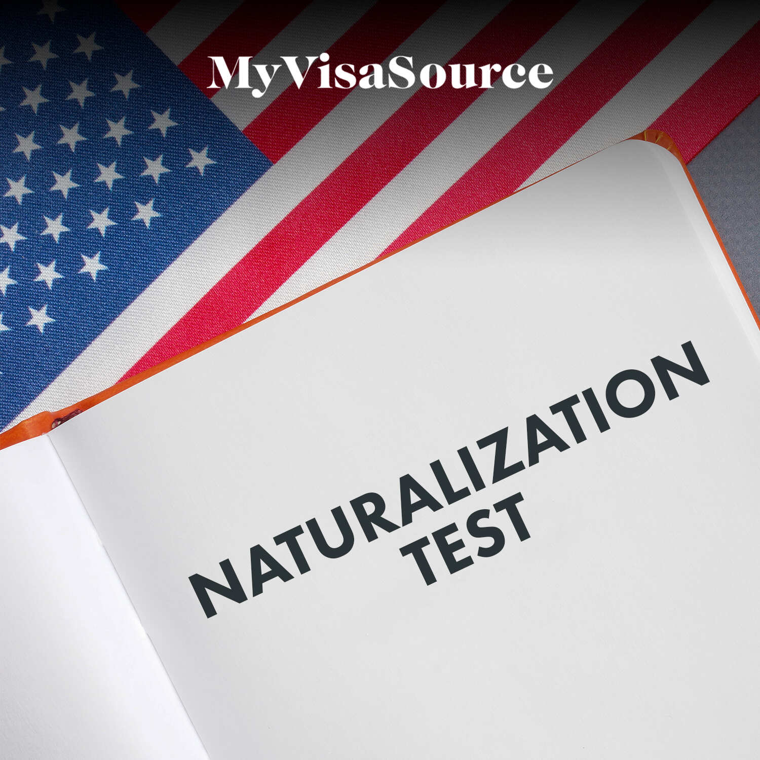 open book with naturalization process written my visa source
