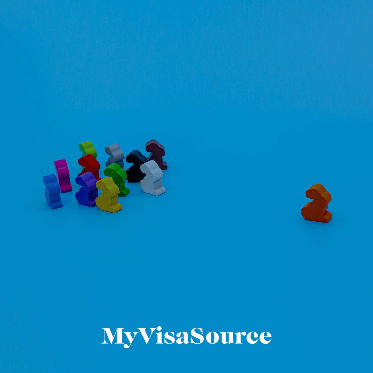 pack of wooden bunnies trailing behind a lead bunny my visa source