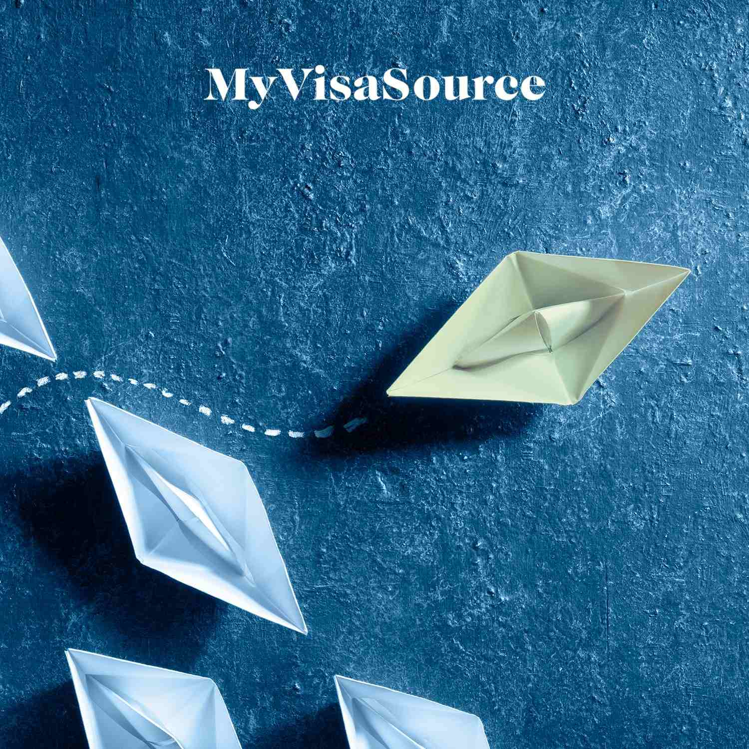paper boats on the water with one pulling ahead my visa source