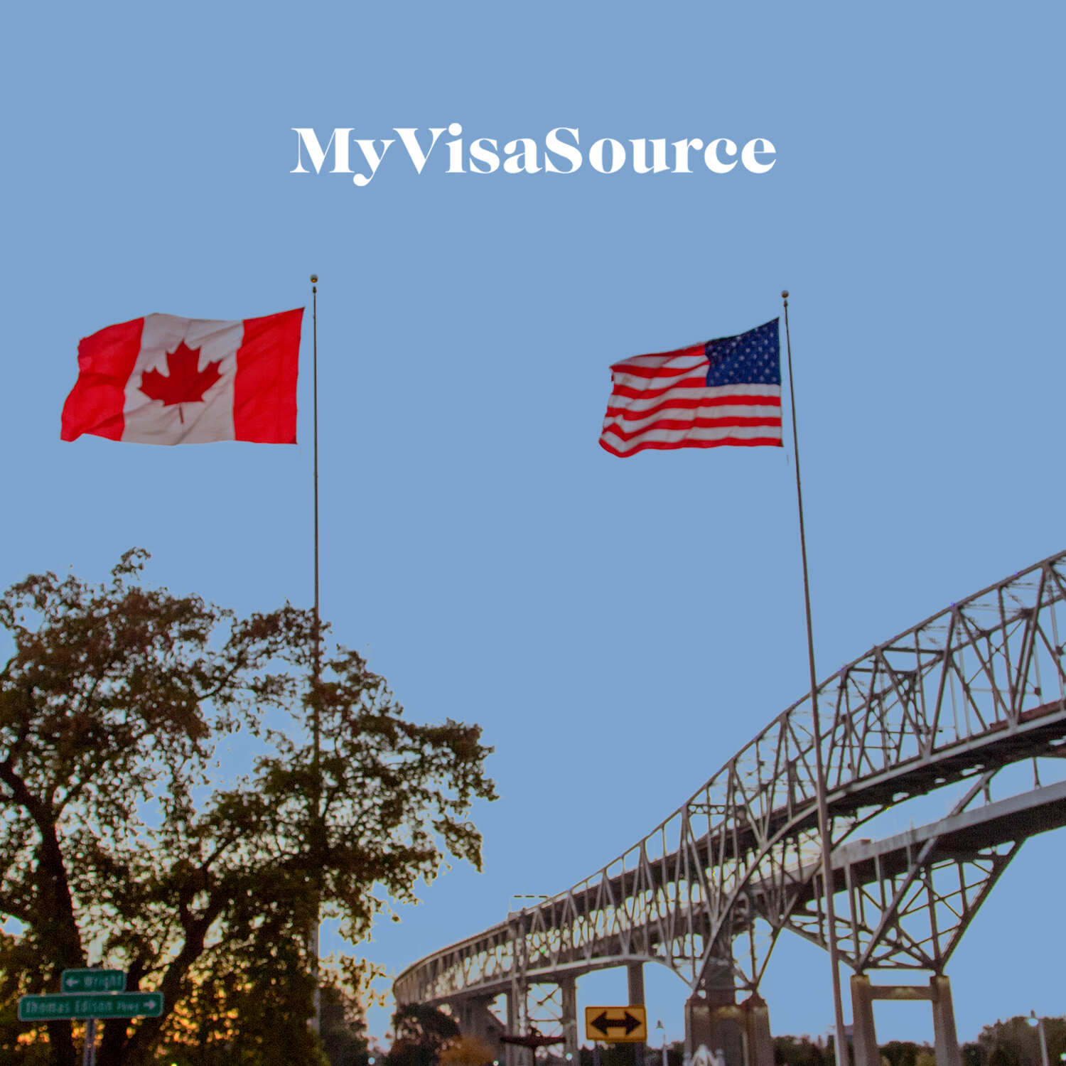 picture of a canadian and us border crossing my visa source