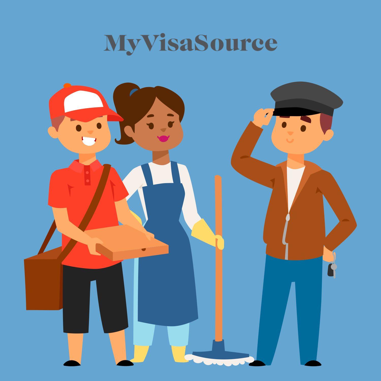 three cartoon skilled workers my visa source