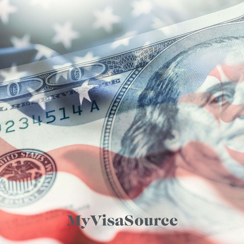 transparent american money over transparent flag my visa source