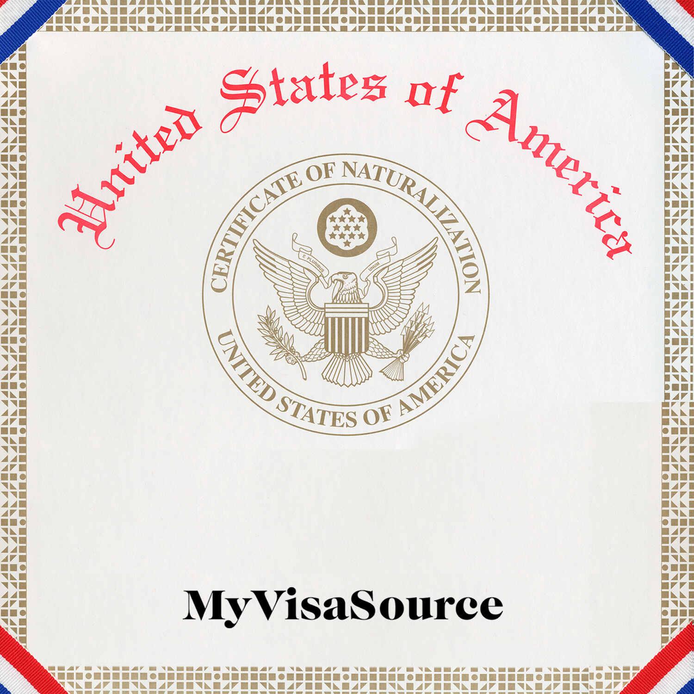 usa citizenship naturalization certificate my visa source