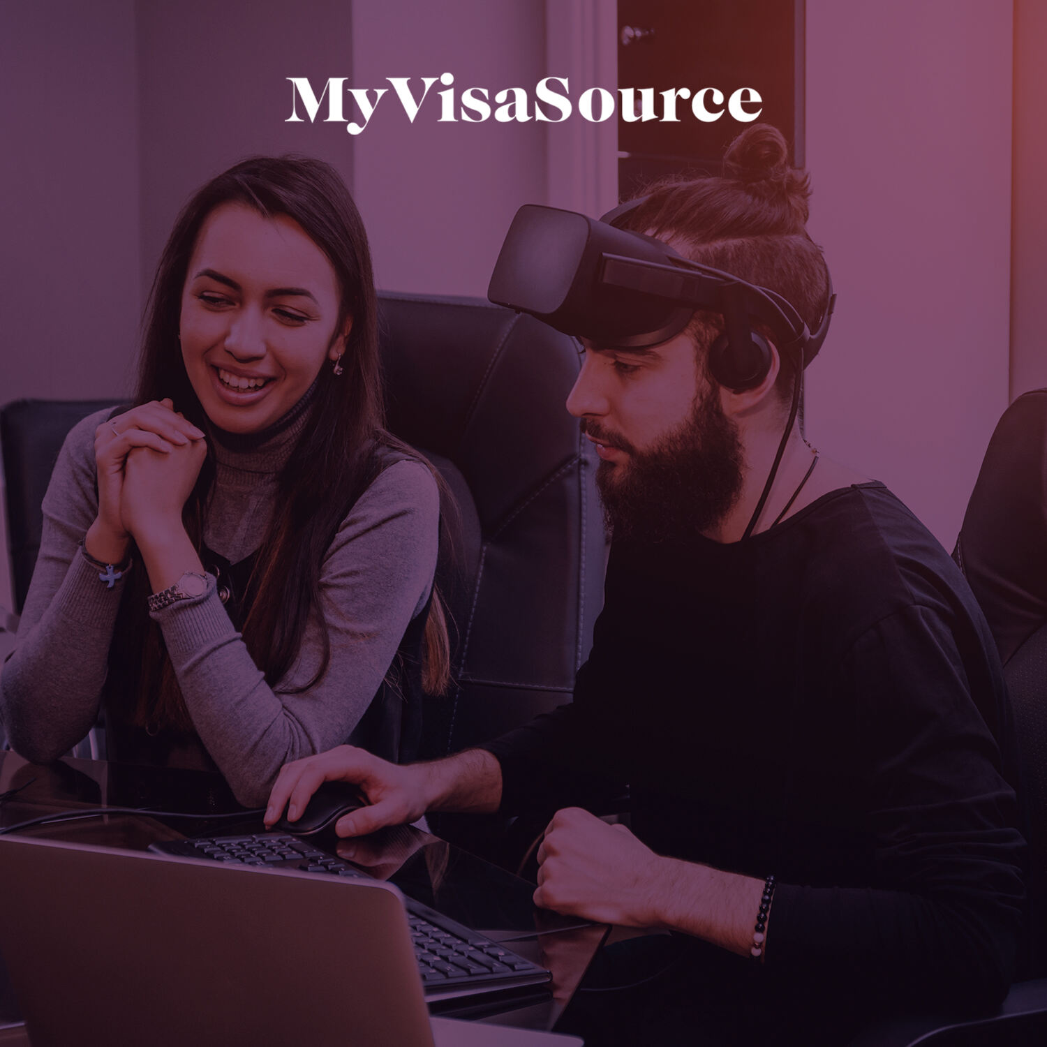 video game developers working over laptops my visa source