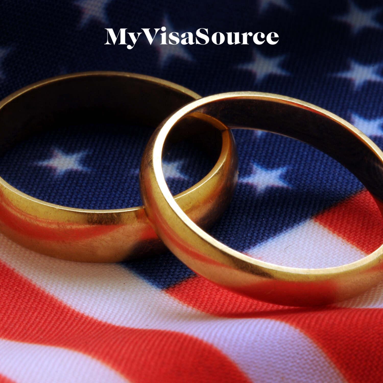 wedding rings over usa flag my visa source