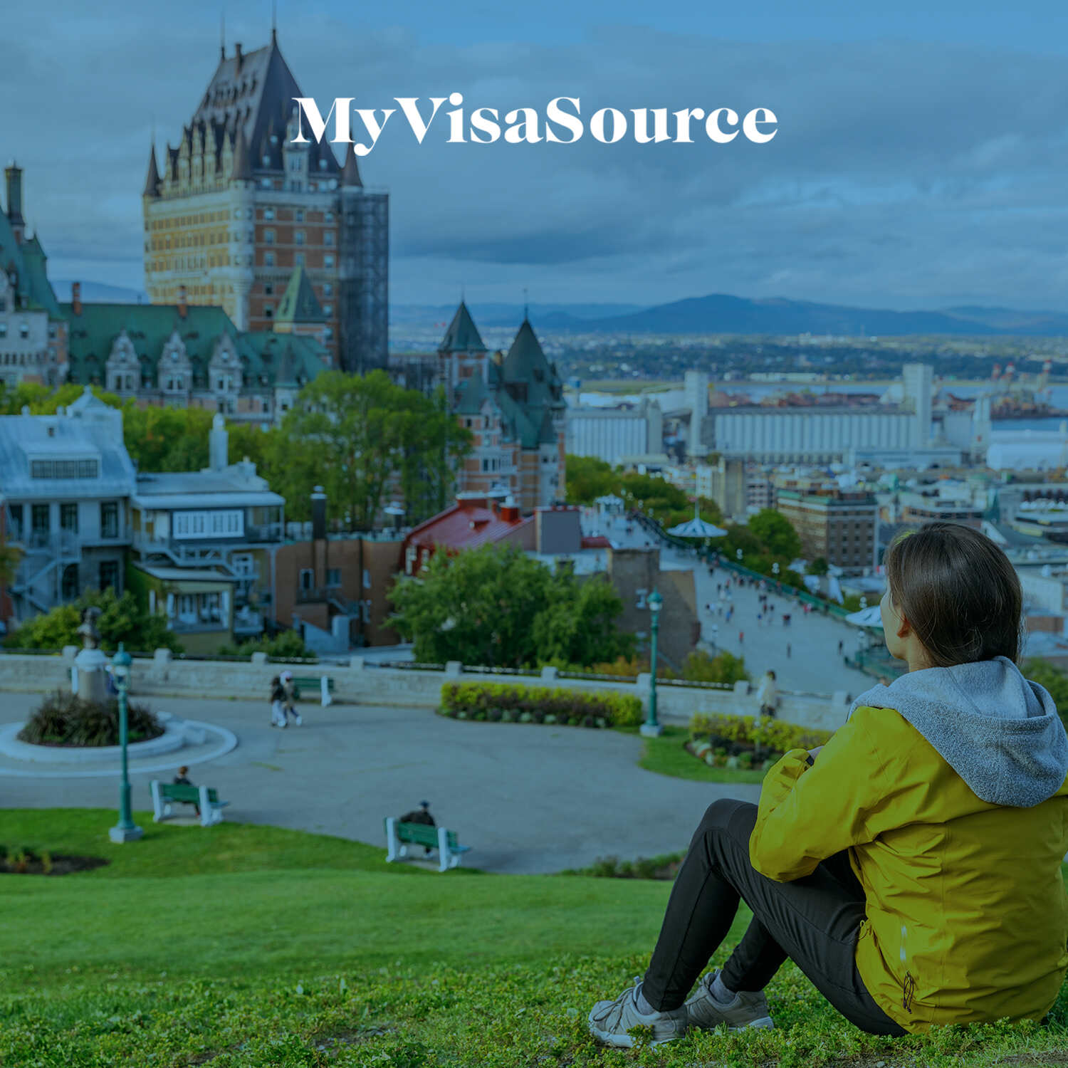 wide picture of an old castle in quebec city my visa source