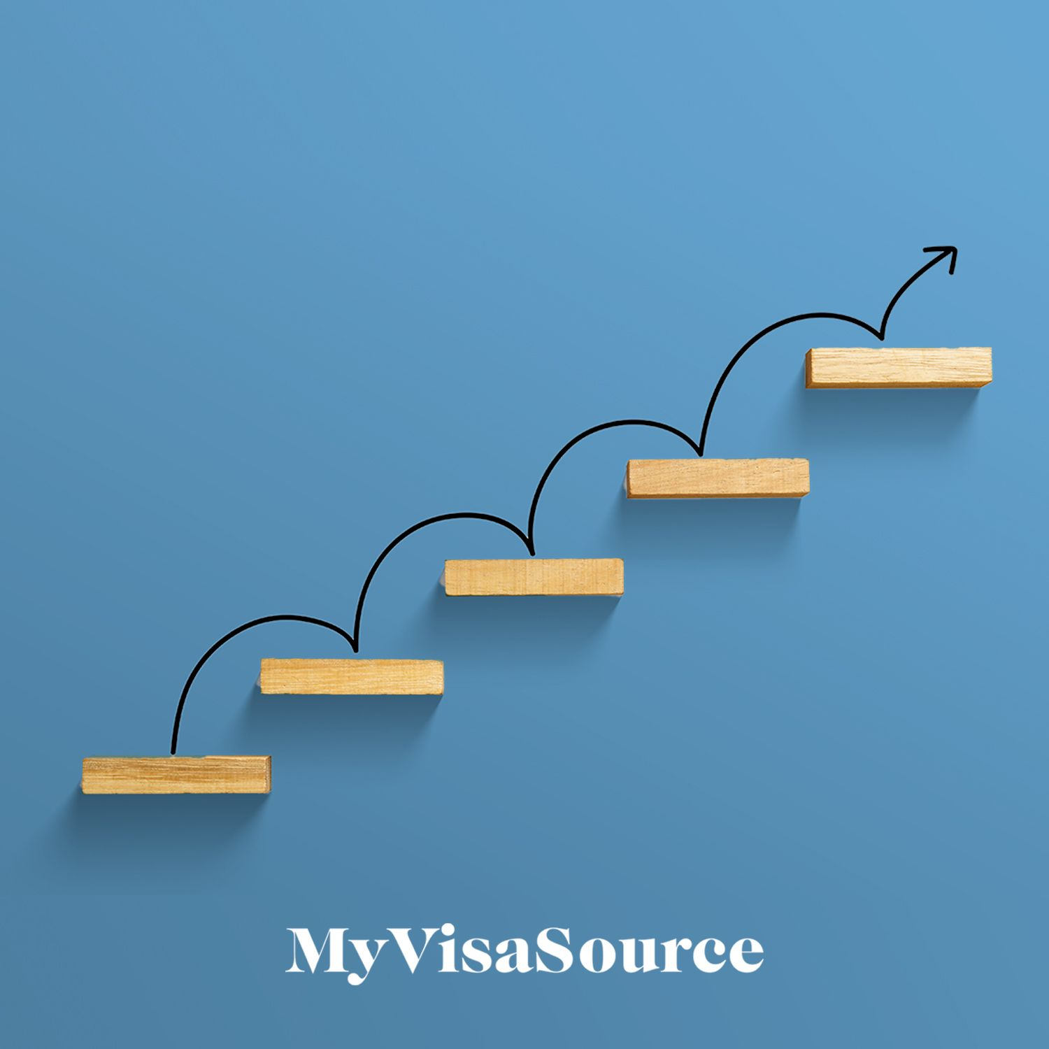 wooden blocks in ascending order with arrow jumping to the top my visa source