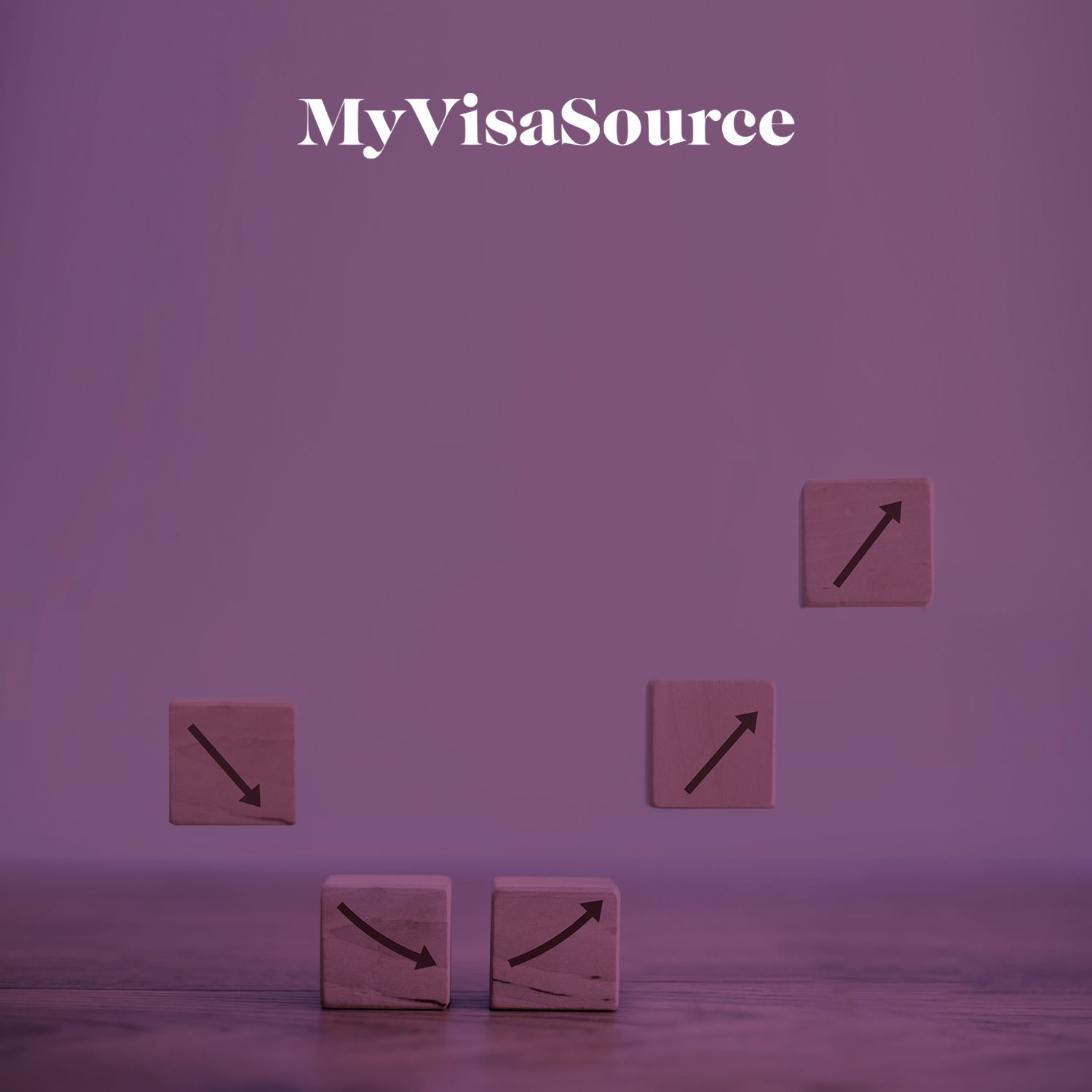 wooden blocks with arrows going down then back up my visa source
