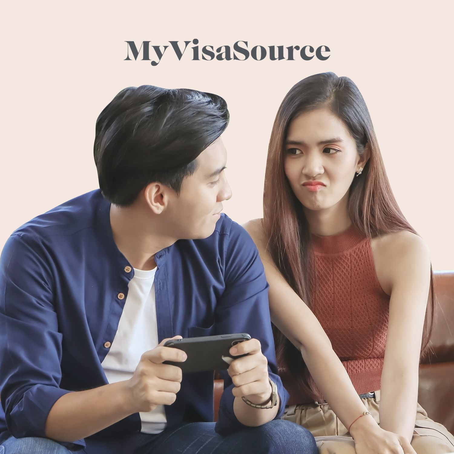 young asian couple girl looks annoyed my visa source