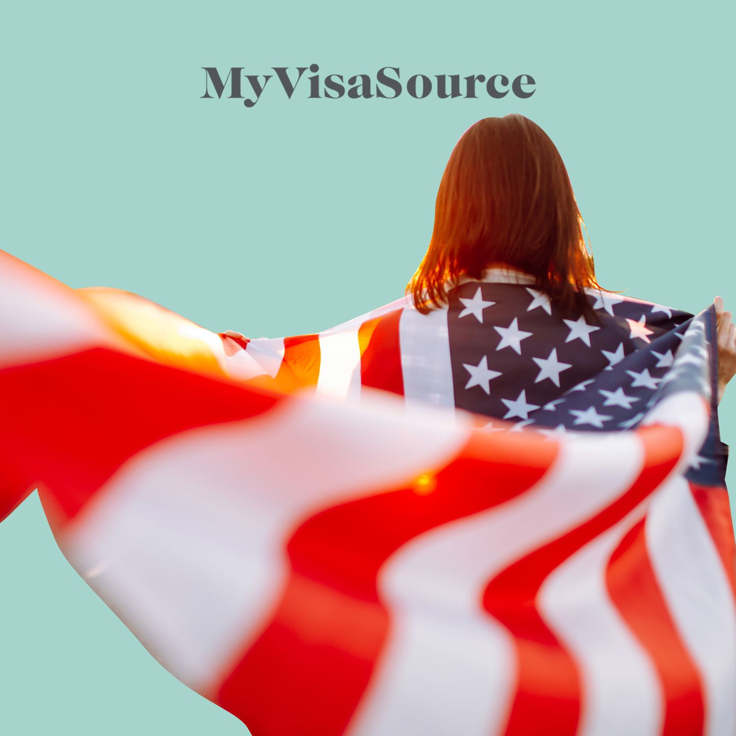 young child with an american flag as a cape my visa source