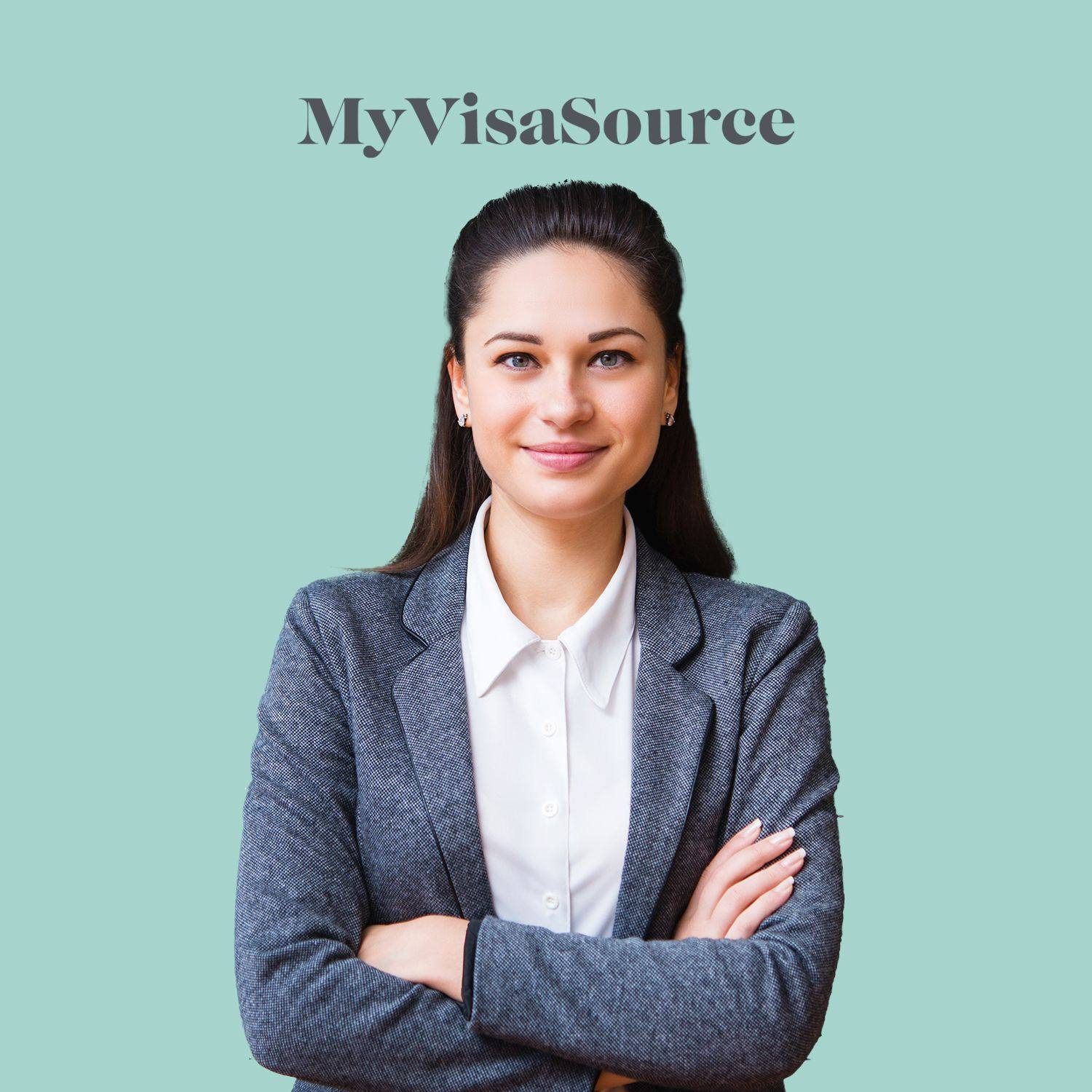 young female teacher in business casual my visa source