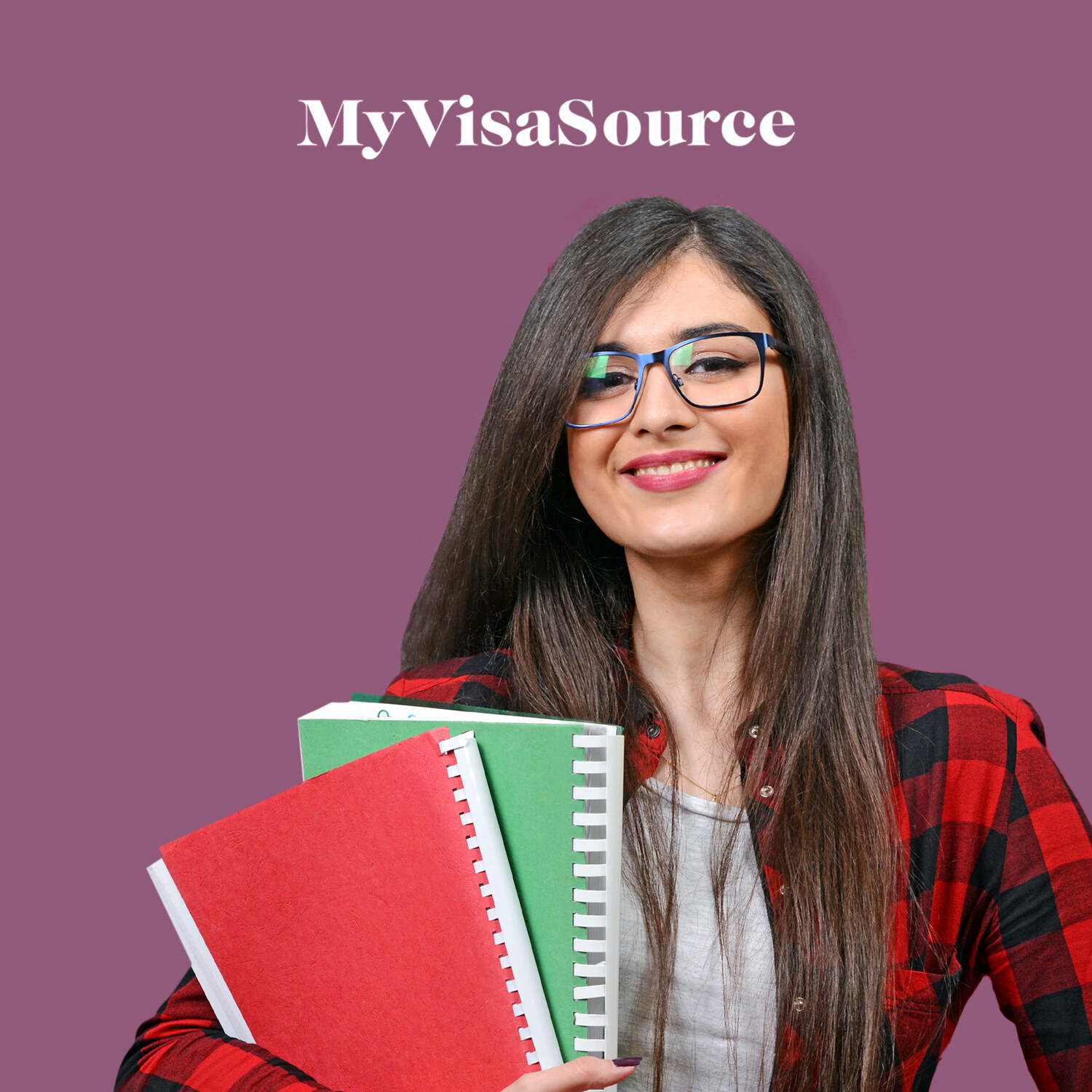 young happy female student my visa source