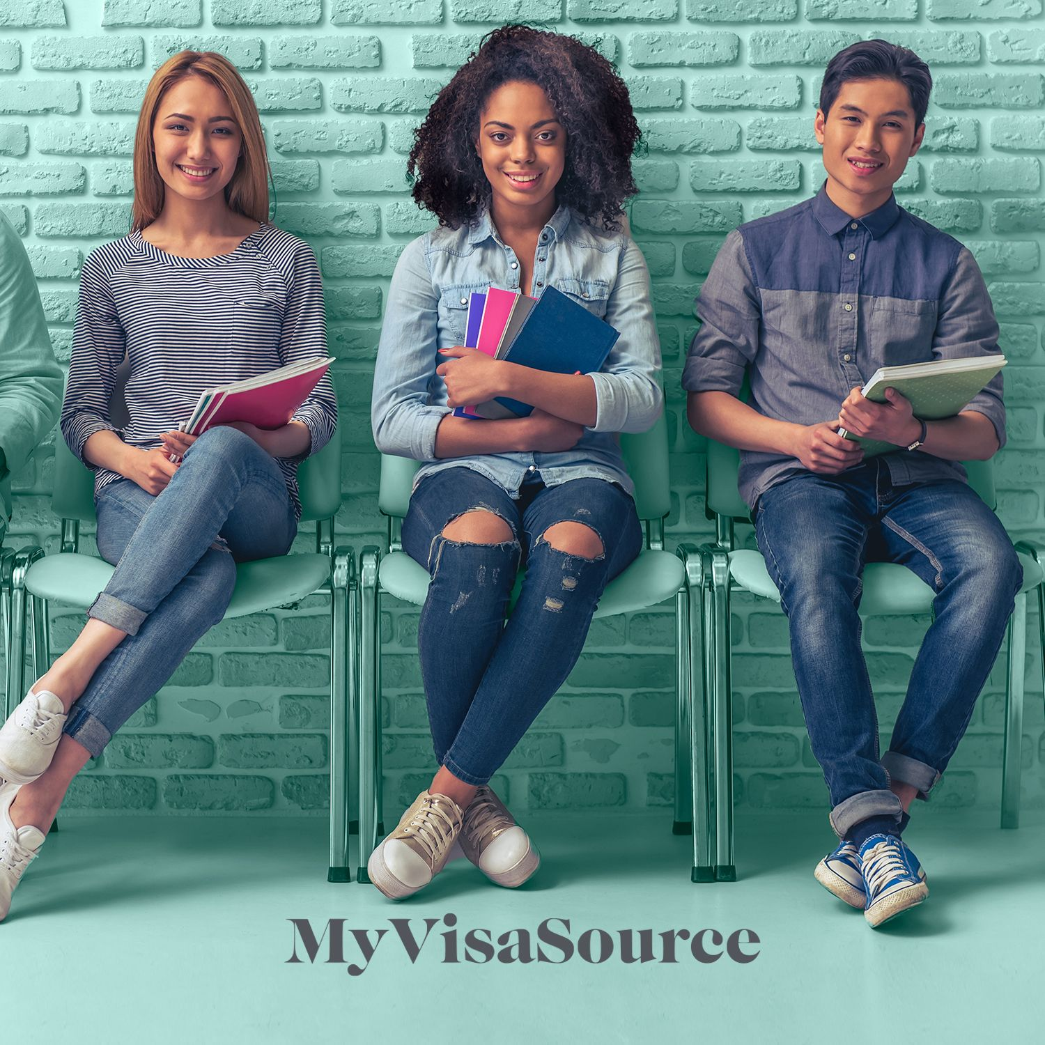 young students waiting in seats my visa source