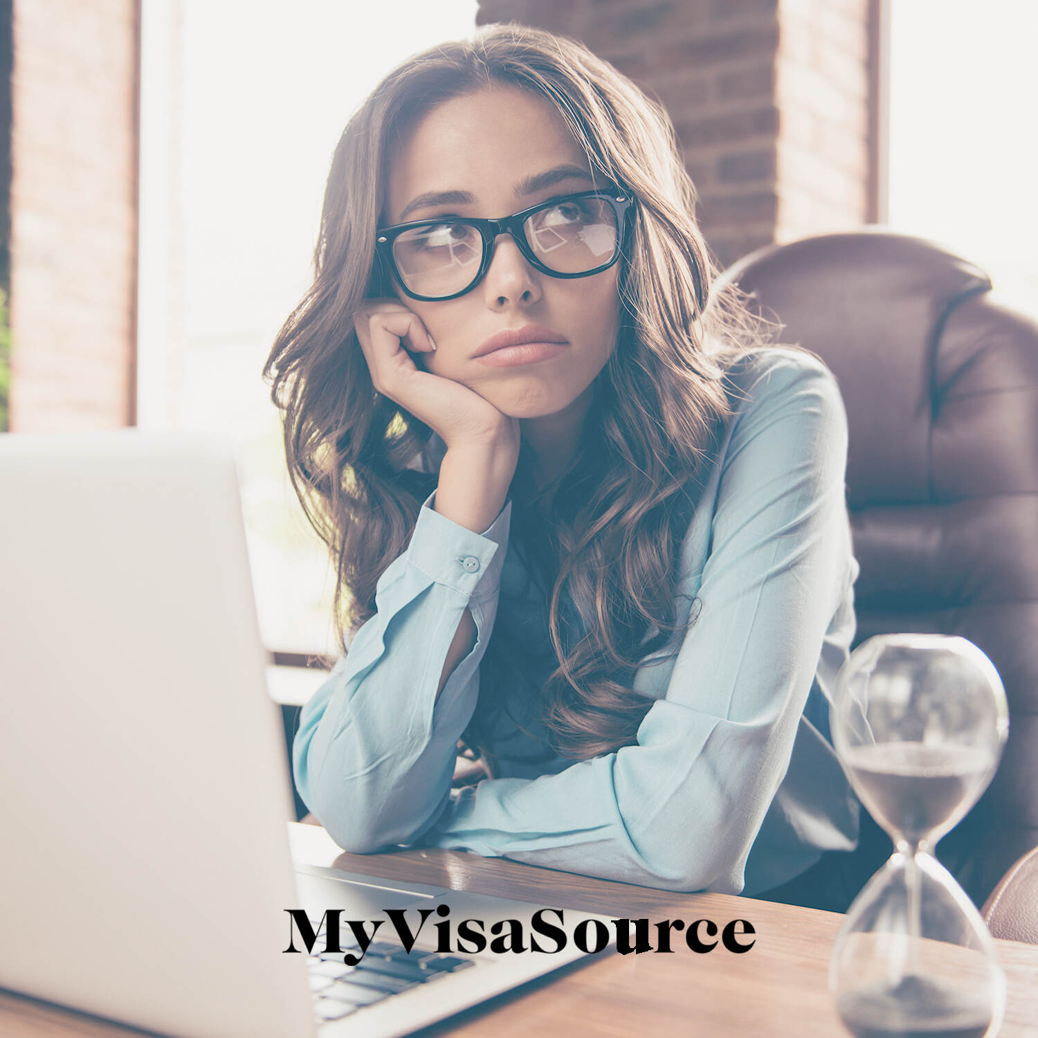 young woman frustrated and waiting my visa source