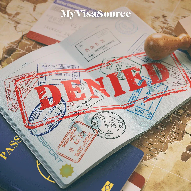 denied stamped over a passport